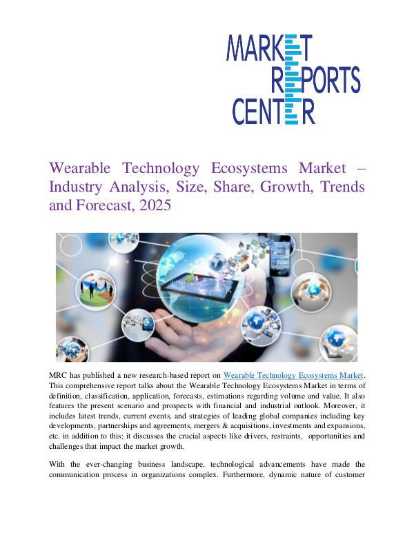 Wearable Technology Ecosystems Market