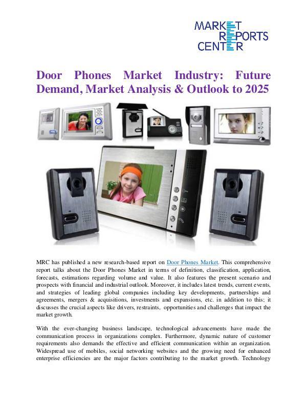 Market Reports Door Phones Market