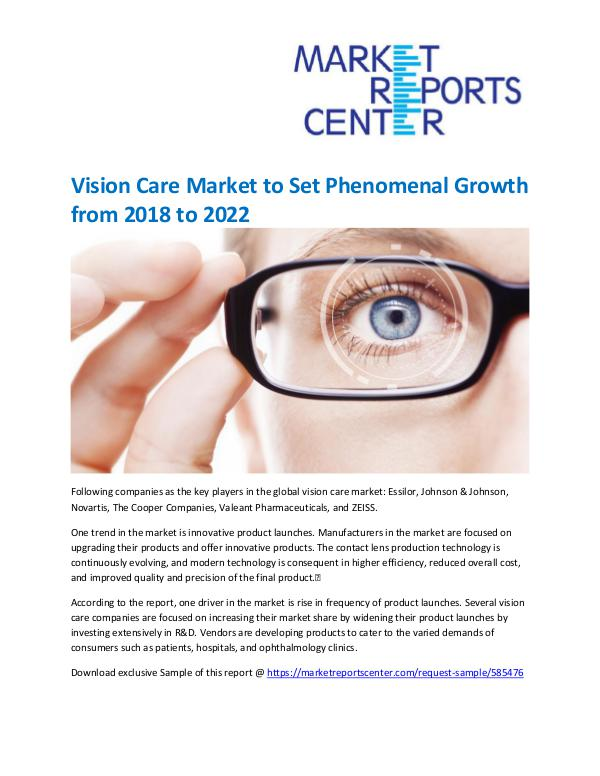 Market Research Reprots- Worldwide Vision Care Market