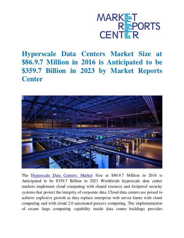 Market Reports Hyperscale Data Centers Market