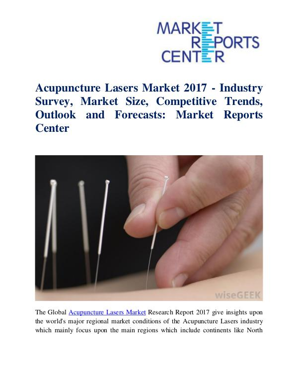 Market Research Reports Acupuncture Lasers Market