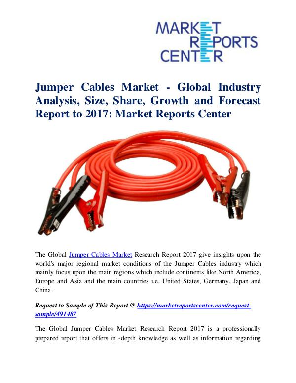 Market Research Reports Jumper Cables Market