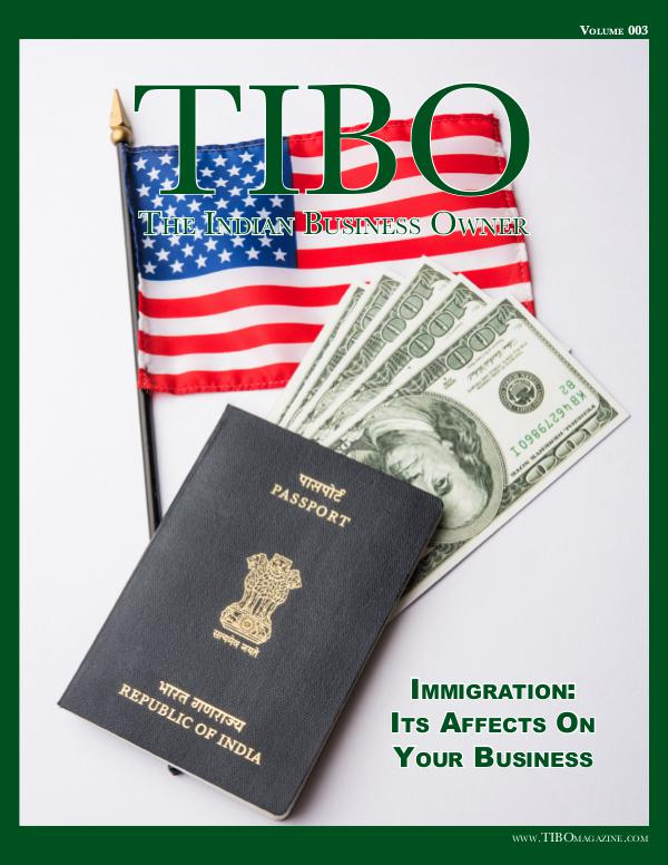 The Indian Business Owner TIBO Magazine - Volume 003