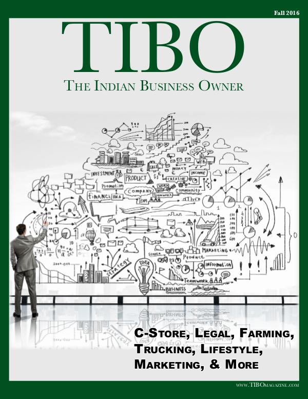 The Indian Business Owner TIBO Magazine - Volume 001