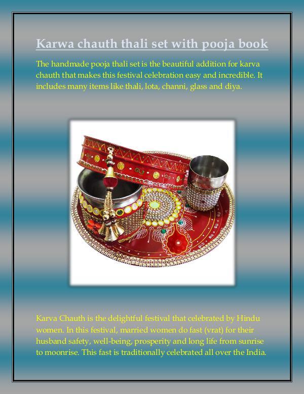 Craftera Multicolour Brass Karwa Chauth Pooja Thali Set karwa-chauth-pooja-thali