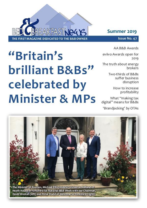 Bed & Breakfast News Issue #47 Summer 2019