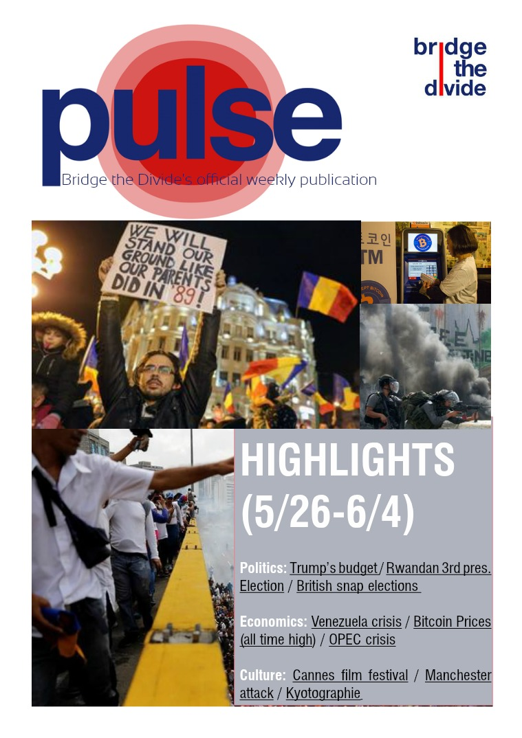 Pulse: 5/26-6/4/2017