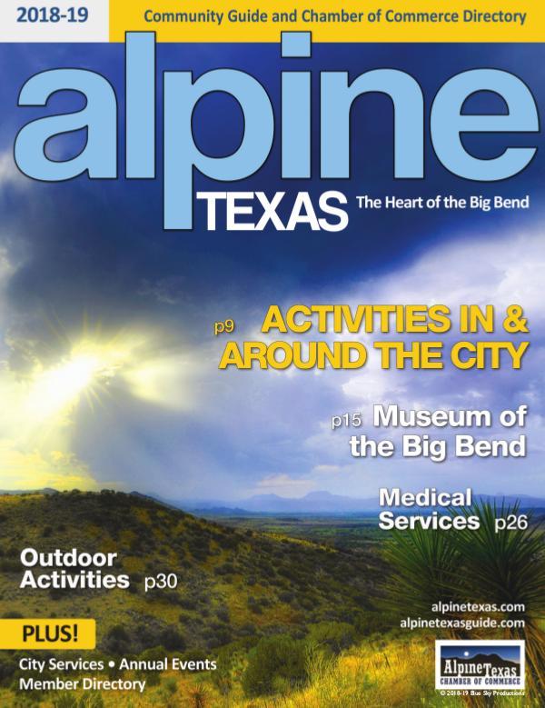 Alpine, Texas Community Guide 2018