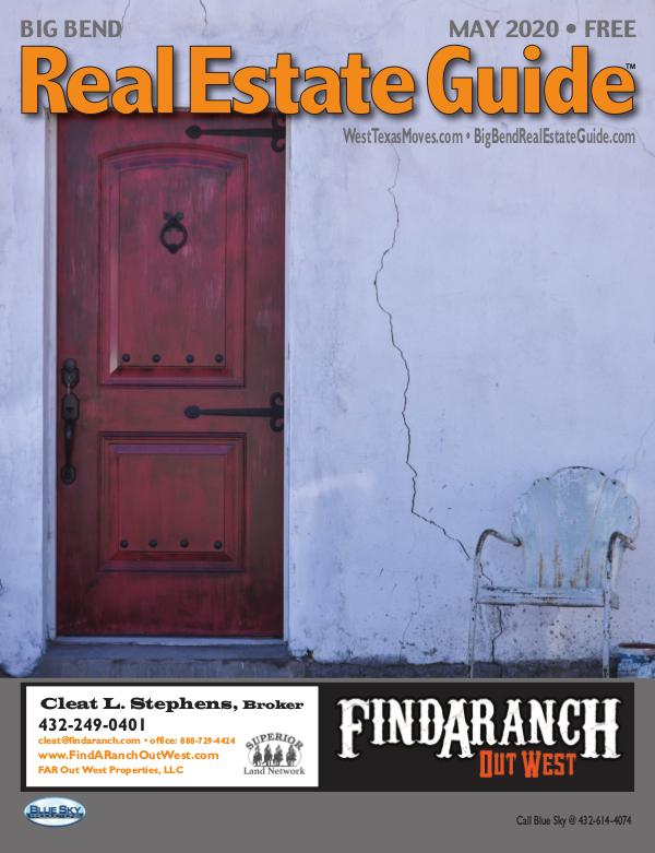 Big Bend Real Estate Guide May 2020