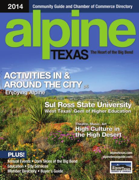 Alpine, Texas Community Guide 2014