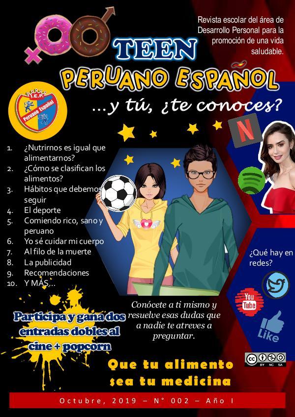 Revista Teen Peruano Español Revista TEEN Octubre