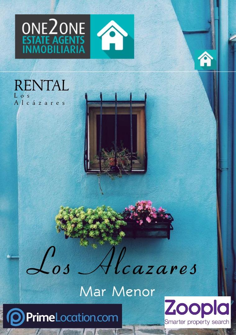 FOR RENT -  LOS ALCÁZARES FOR RENT LOS ALCÁZARES MAR MENOR SPAIN