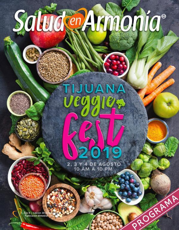 Revista Salud en Armonía Programa Veggie Fest 2019 Tijuana