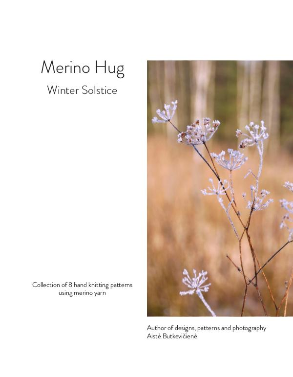 Collections of knitting patterns. Four seasons Merino Hug. Winter Solstice