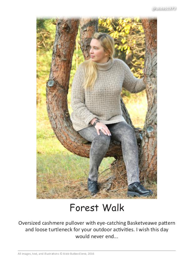Cashmere Collection. Knitting patterns Forest Walk (eng)