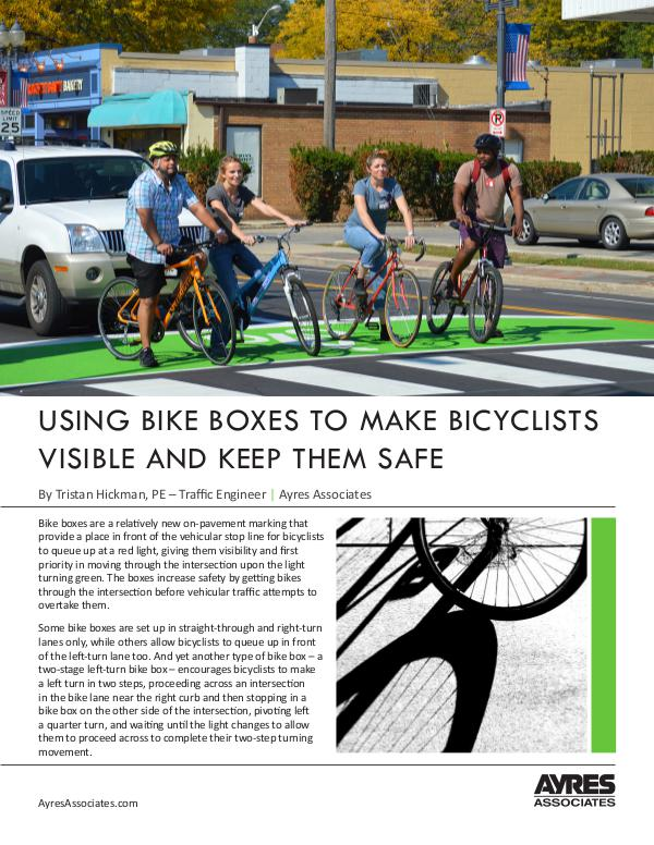 Ayres Knowledge Center Using Bike Boxes to Increase Visibility and Safety