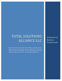 Total Solutions Alliance LLC - Wealth Creation Strategies