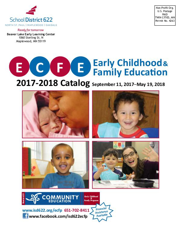 Early Childhood Family Education 2017-2018 Catalog