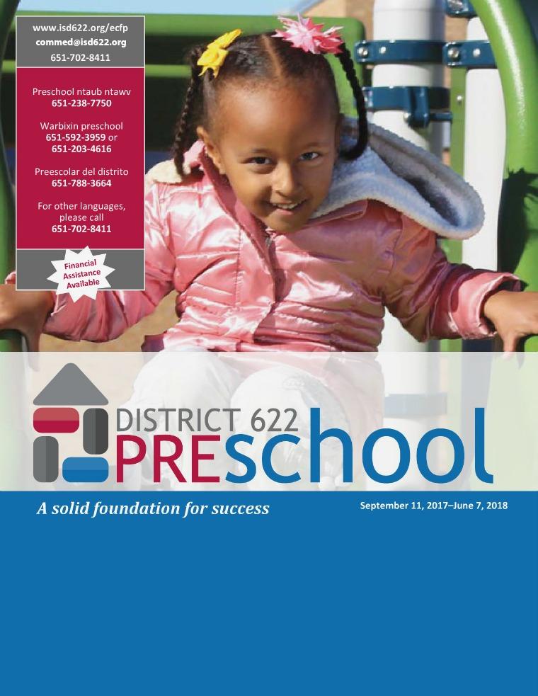 District 622 Preschool Catalog 2017-2018 Preschool Catalog