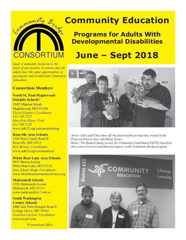 Community Bridge June - September 2018