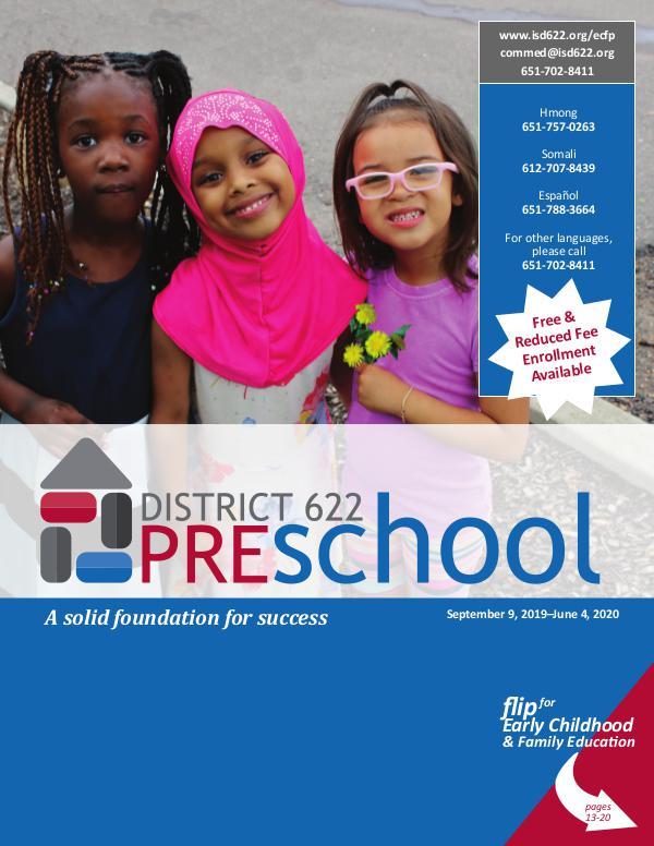 District 622 Preschool Catalog 2019-2020 Preschool Catalog