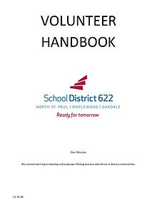 School District 622 Volunteer Handbook