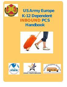 Army Europe K-12 PCS INBOUND Handbook