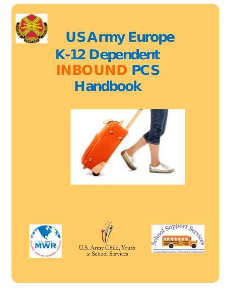 US Army Europe K-12 INBOUND PCS Handbook Aug 2016