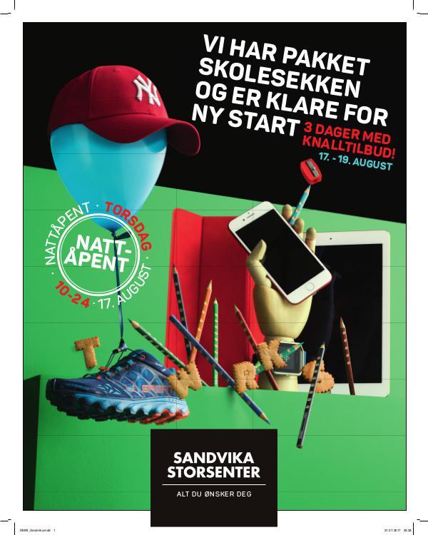 Sandvika Storsenter Skolestart 2017 og Nattåpent!