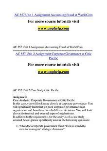 AC 557 Seek Your Dream /uophelp.com