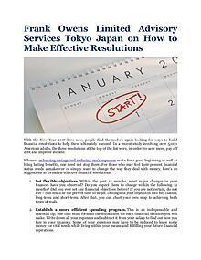 Frank Owens Limited Advisory Services Tokyo Japan