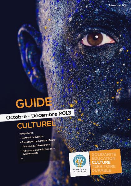 Guide Culturel du CG #4 Octobre 2013