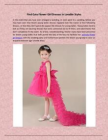 Find Cute Flower Girl Dresses in Lovable Styles