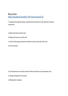 BI 101 Homework 3