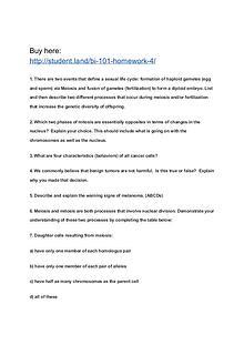 BI 101 Homework 4