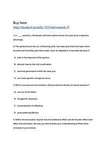 BI 101 Homework 7