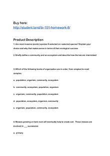 BI 101 Homework 8
