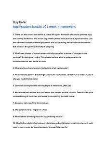 BI 101 Week 4 Homework