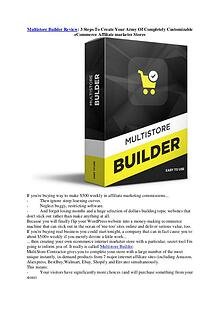 Multistore Builder Review: 3 Steps To Create Your Army Of Fully Custo