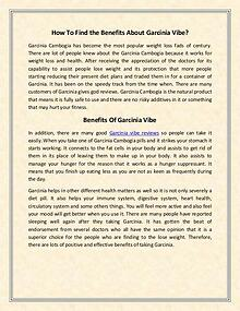 Garcinia vibe reviews