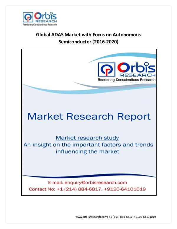 Market Research Report New Study on Global  ADAS Market with Focus on Aut
