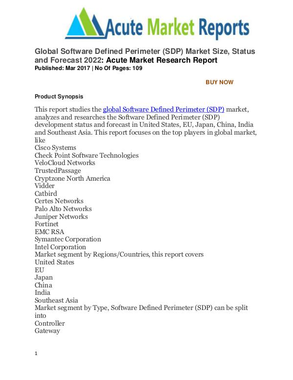 Global Software Defined Perimeter (SDP) Market Global Software Defined Perimeter (SDP) Market