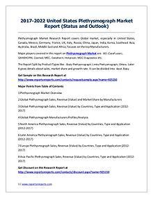Plethysmograph Market 2012-2022 Global Key Manufacturers Analysis