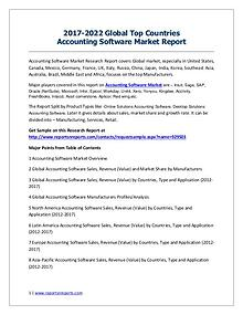 Accounting Software Market 2017 Analysis, Trends and Forecasts 2022