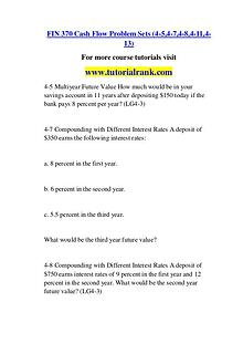 FIN 370 Course Great Wisdom / tutorialrank.com