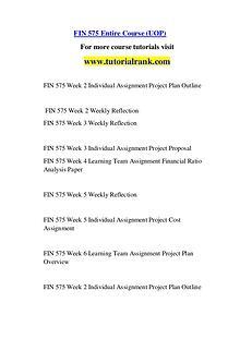 FIN 575 Course Great Wisdom / tutorialrank.com