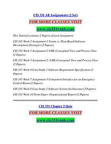 CIS 331 RANK Extraordinary Life/cis331rank.com