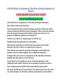 CIS 348 MENTOR Extraordinary Life/cis348mentor.com
