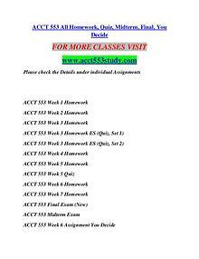 ACCT 553 STUDY Anywhere Start Here/acct553study.com