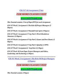 CIS 517 RANK Extraordinary Life/cis517rank.com